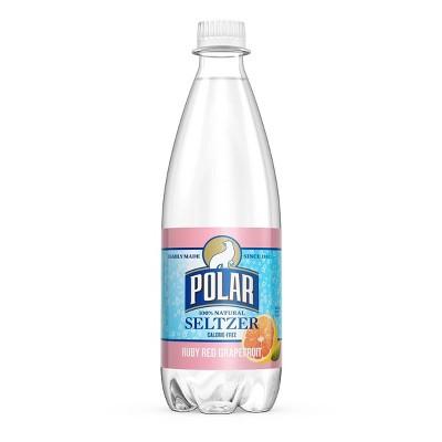 Polar Ruby Red Grapefruit Seltzer - 20 fl oz Bottles