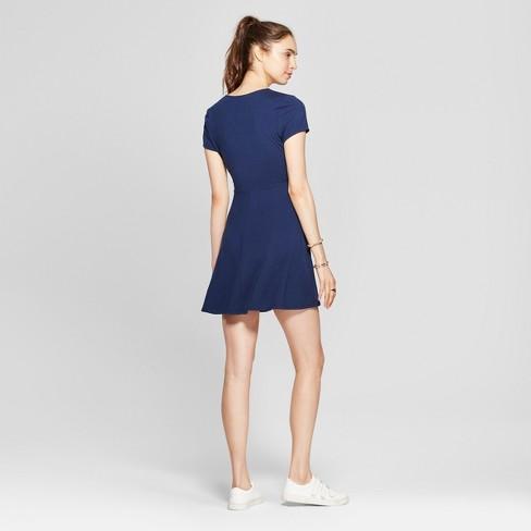 dac5d8004b5f Women s Wrap Dress - Lots Of Love By Speechless (Juniors ) Navy M   Target