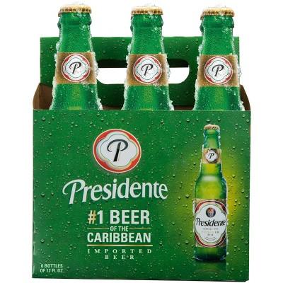 Presidente Pilsner Style Beer - 6pk/12 fl oz Bottles