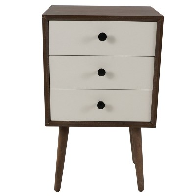 Anton Driftwood 3 Drawer Accent Table Driftwood - Décor Therapy