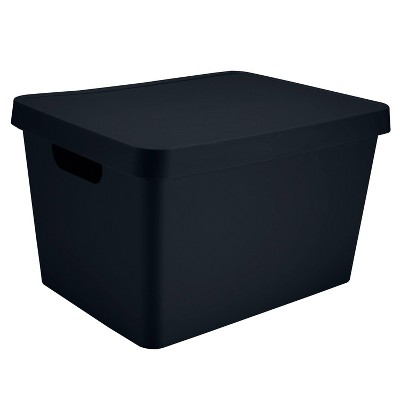 Simplify Large Storage Box with Lid Charcoal