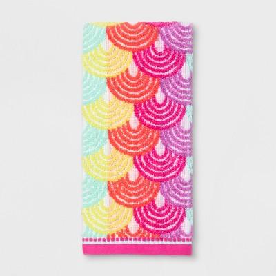Scallop Hand Towel Pink - Pillowfort™