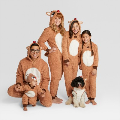 holiday rudolph the red nosed reindeer family union suits collection