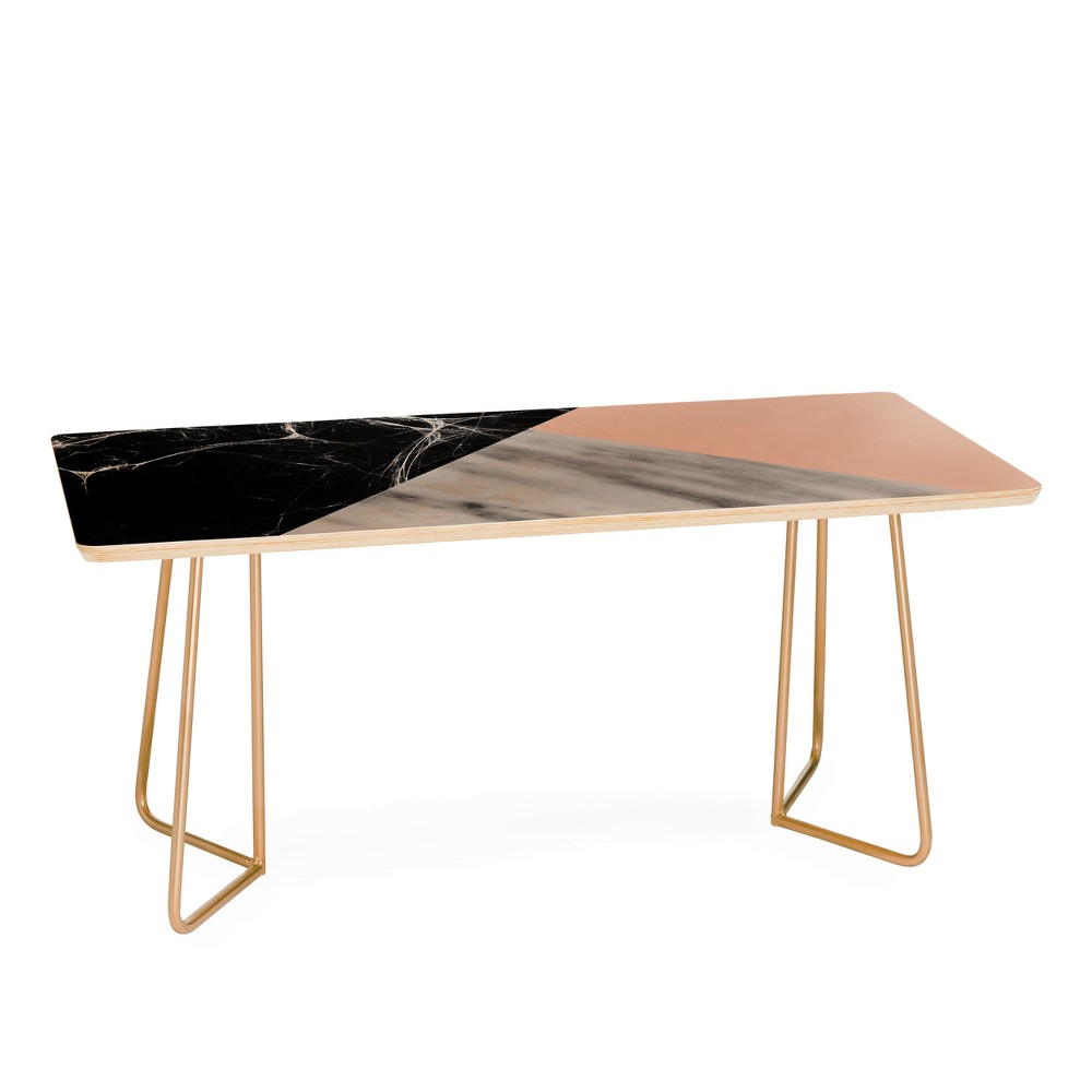 Emanuela Carrotoni Collage with Pink Coffee Table - Deny Designs, Gold