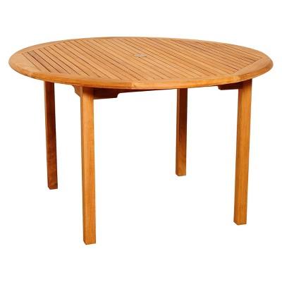Sarasota 5 Piece Teak/Wicker Rectangular Patio Dining Furniture Set : Target