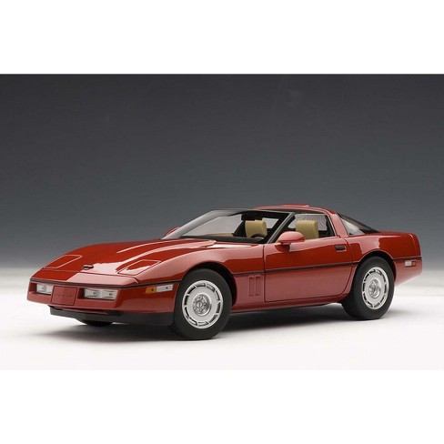 1986 Chevrolet Corvette Bright Red 1/18 Diecast Model Car by Autoart - image 1 of 4