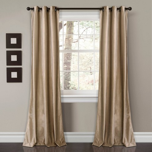 Set of 2 Prima Velvet Room Darkening Window Curtain Panels - Lush Décor - image 1 of 4