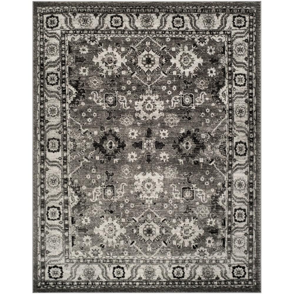 6'7X9' Loomed Floral Area Rug Gray - Safavieh, Gray/Black
