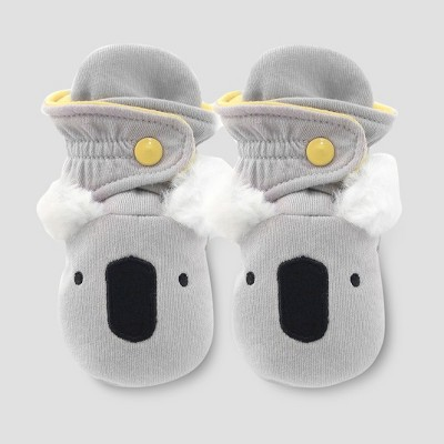 Baby Boys' Koala Bootie Wraps - Cloud Island™ Gray 3-6M