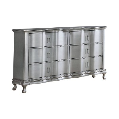 Bentlee 6 Drawer Dresser Silver - HOMES: Inside + Out