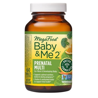 MegaFood Baby & Me 2 Multivitamin Tablets - 60ct