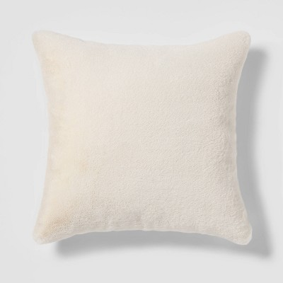 Faux Fur Square Pillow Cream - Threshold™