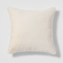 Faux Rabbit Fur Pillow - Threshold™