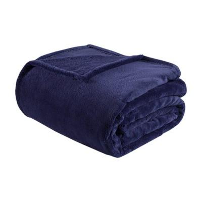 Microlight Plush Blanket (King)Navy