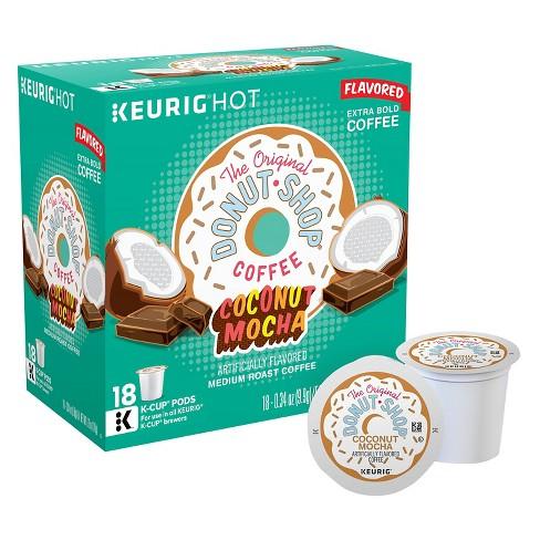 The Original Donut Shop Coconut Mocha Flavored Medium Roast Coffee - Keurig K-Cup Pods - 18ct - image 1 of 4