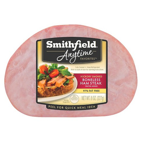 Smithfield® Anytime Favorites Hickory Smoked Boneless Ham Steak - 8oz - image 1 of 1