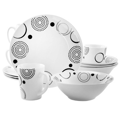 Gibson Home 12pc Stoneware Modern Times Dinnerware Set
