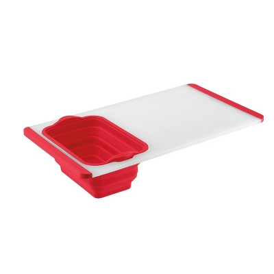 "Cuisinart 20"" Cutting Board with 2.5qt Red Colander - CTG-00-CBCR"