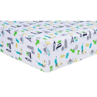 Trend Lab Fitted Crib Sheet - Dinosaur