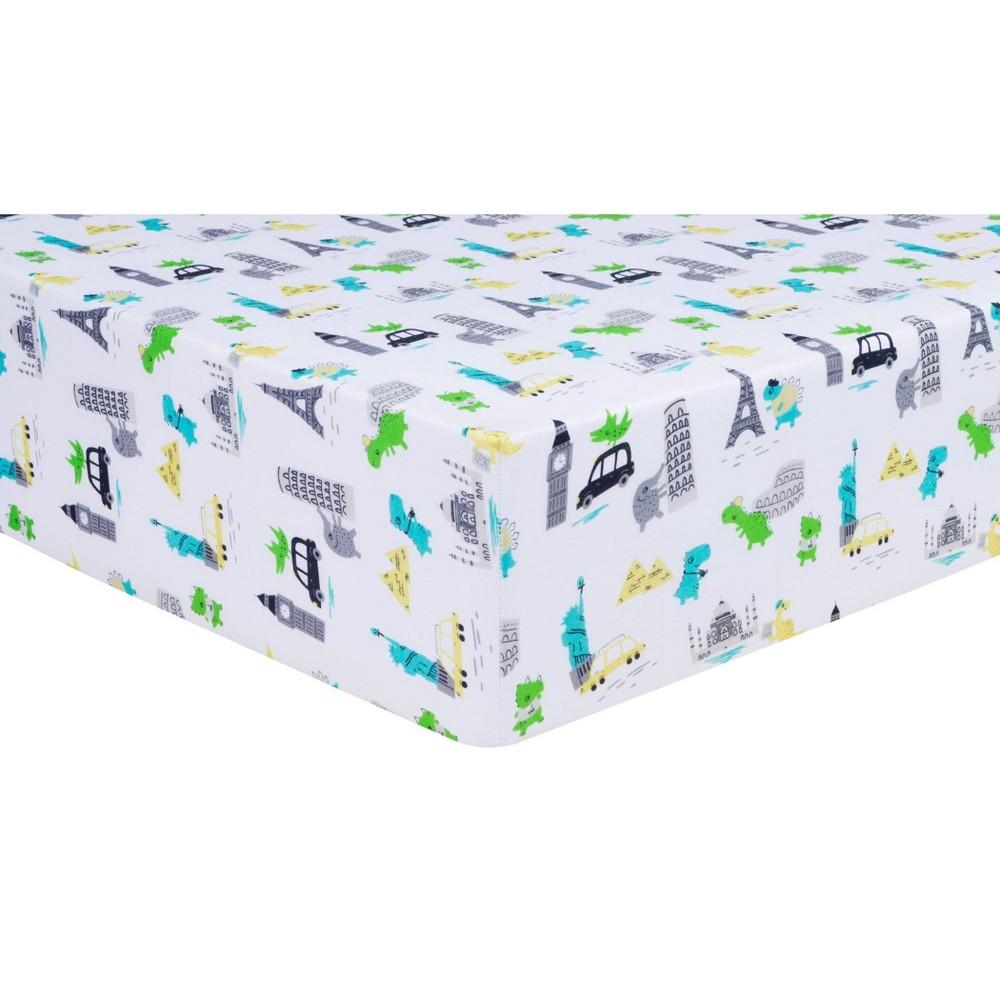 Trend Lab Fitted Crib Sheet Dinosaur