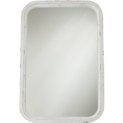 """Noble Park Noreen Distressed White 24 3/4"""" x 36 1/2"""" Wall Mirror"""