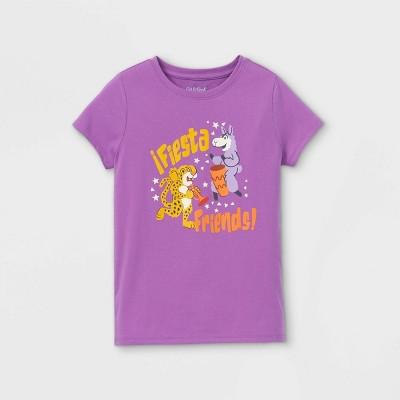Girls' 'Fiesta Friends' Short Sleeve Graphic T-Shirt - Cat & Jack™ Purple