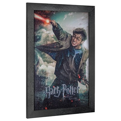 Licensed Harry Potter Deathly Hallows Wall Art Black - Crystal Art Gallery