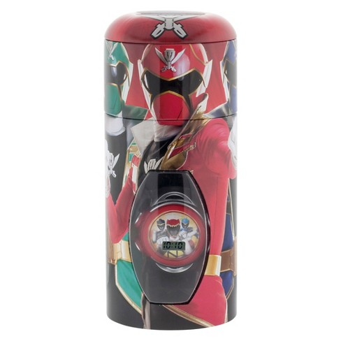 Boys' Power Rangers Watch with Cylinder Tin Coin Bank - image 1 of 2