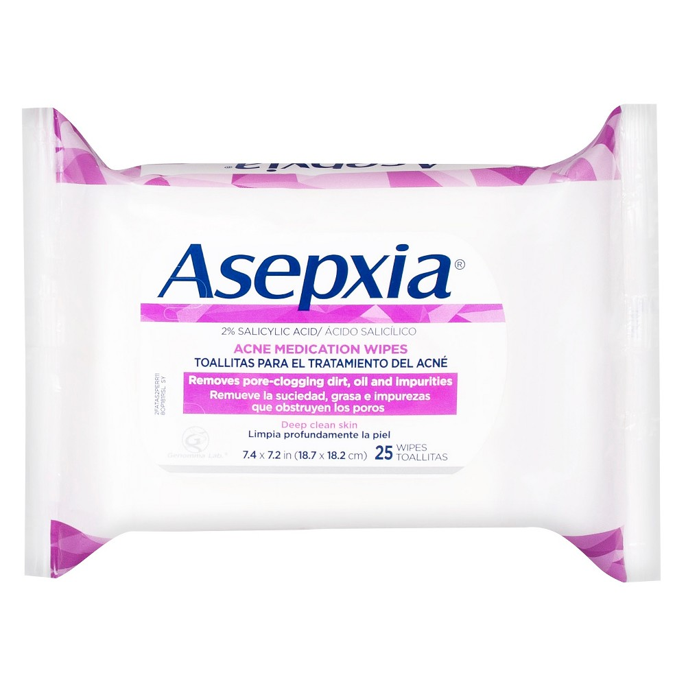 Asepxia Acne Medication Wipes 25 ct