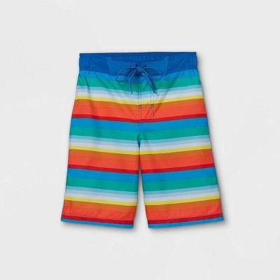 Boys' Rainbow Striped Swim Trunks - Cat & Jack™