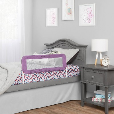 Dream On Me 3D Linen fabric and Mesh Security Bed Rail - Purple