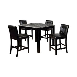 Tetherron Counter Height Dining Table Set Gray/Black - miBasics