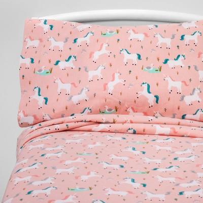 Twin Fairytale Frolic Flannel Sheet Set - Pillowfort™