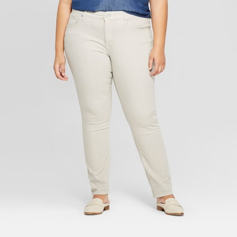Women's Plus Size Skinny Jeans - Universal Thread™ Gray - image 1 of 3