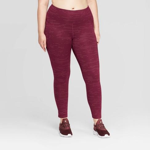 "Women's Plus Size Studio Spacedye Print Mid-Rise 7/8 Leggings 25"" - C9 Champion® Dark Berry - image 1 of 2"