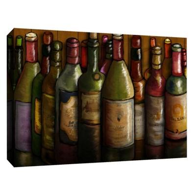 Wine Bottles Decorative Canvas Wall Art 11 x14  - PTM Images