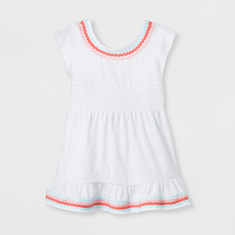 Baby Girls' Smocked Cover-Up Dress - Cat & Jack White 12M