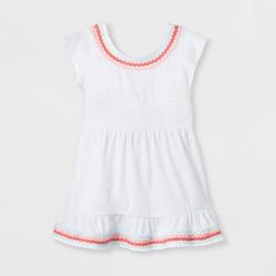 Toddler Girls' Smocked Cover-Up Dress - Cat & Jack™ White