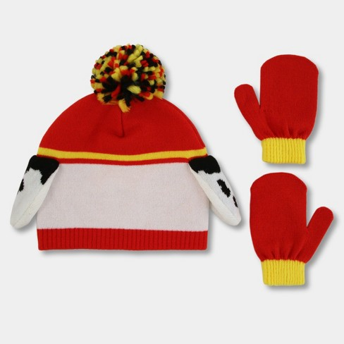 Toddler Boys  PAW Patrol Hat And Mitten Set - Red One Size   Target b239f028d12f