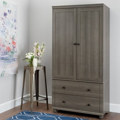 Exceptionnel Hopedale Storage Armoire With 2 Drawers   White Wash   South Shore : Target