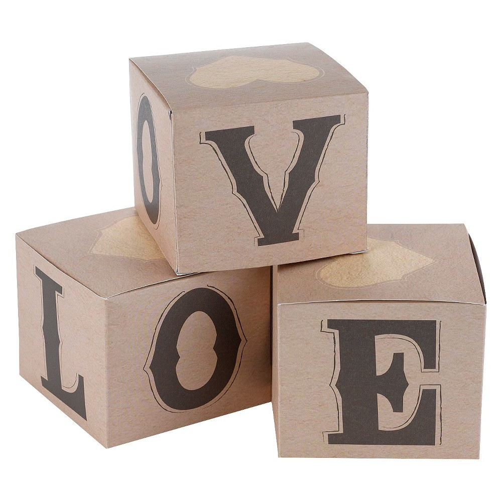 Image of 25ct Rustic Love Wedding Favor Box