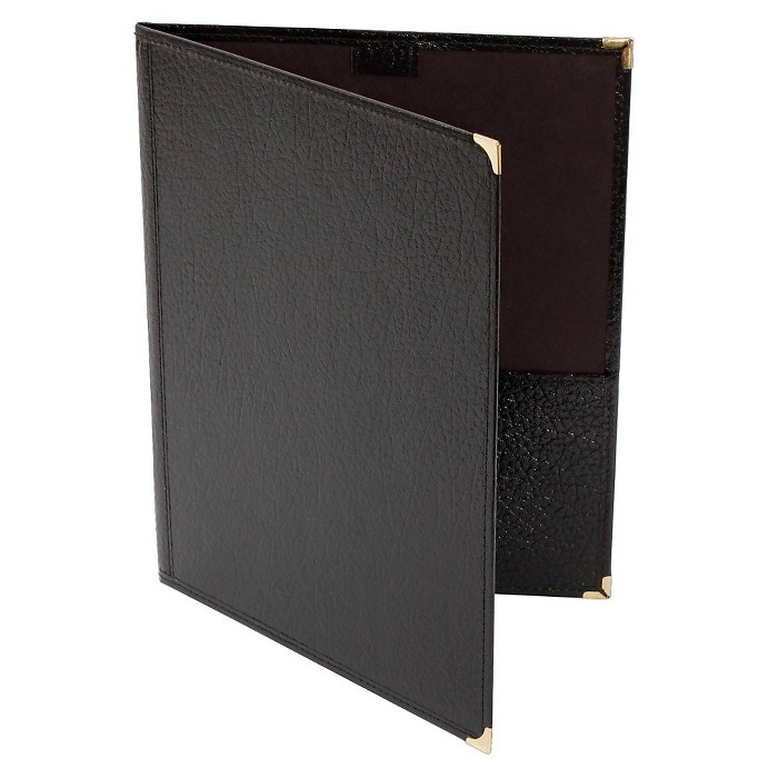 Deer River Choral Leatherette Folio With Pencil Loop Bottom Pockets Black 9x12 - image 1 of 1
