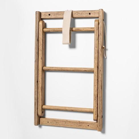 "24"" x 14"" Decorative Wood Drying Rack Brown - Threshold™ - image 1 of 2"