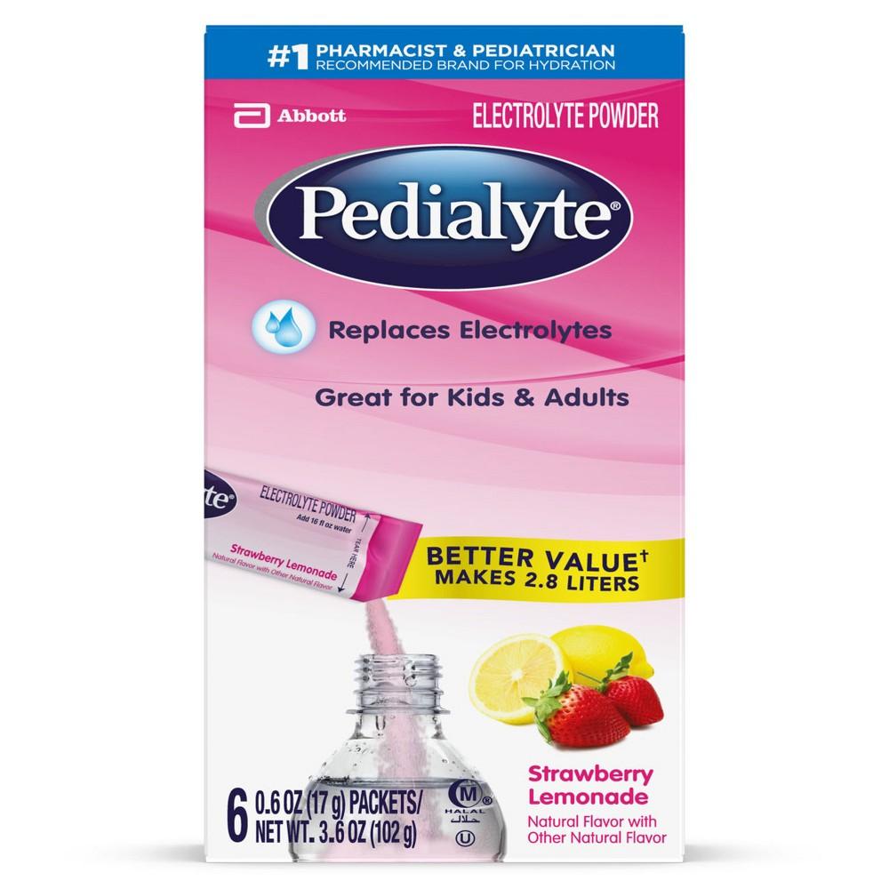Pedialyte Powderpk Strawberry Lemonade - Large