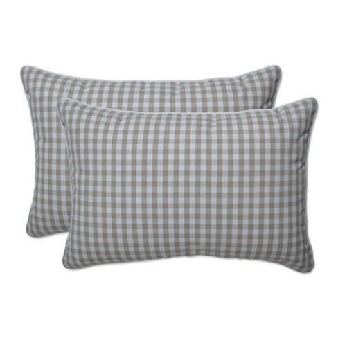 2pc Outdoor/Indoor Dawson Over-Sized Rectangular Throw Pillow Birch Tan - Pillow Perfect - image 1 of 1