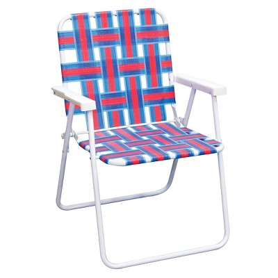 Webstrap Beach Chair - Sneaky Blue, Apple Red, Electra Blue