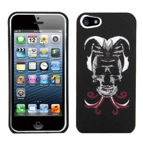 MyBat Skull Joker Hard Snap-in Case Cover Compatible With Apple iPhone 5/5S/SE, Black/White - image 1 of 1