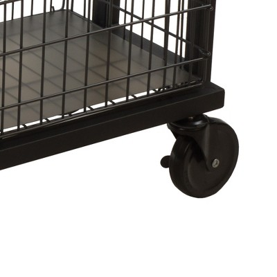 Cart System With Wheels 3 Tier Black - Atlantic : Target