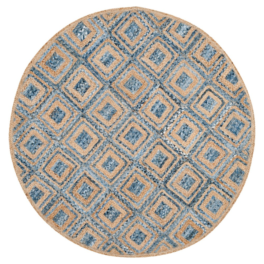 Bailey Area Rug - Natural - (6' ) - Safavieh, Natural/Blue