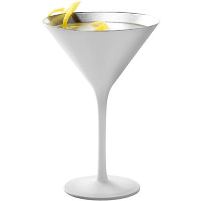Stolzle Lausitz Olympia White and Silver 8 Ounce Martini Glass, Set of 2